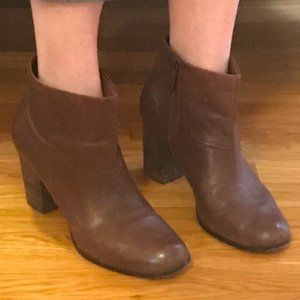 Cole Haan Nike Air Ankle Boots in Cognac
